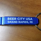 Blue Beer City Bottle Opener with keychain