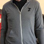 Grey Zip Hoodie - Front