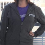 Van Andel Institute Purple Community Dark Grey Zip Hoodie