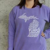 Van Andel Institute Purple Community Crew Sweatshirt