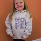 Purple Community Light Gray Youth Hoodie