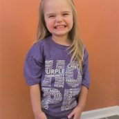 Youth Purple Hope Tee