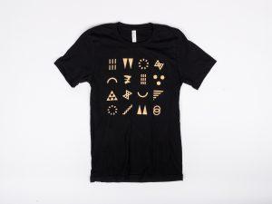 Black ArtPrize Gold Glyphs T-Shirt