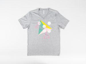 ArtPrize Grey Triangle V-Neck T-Shirt