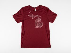 Maroon ArtPrize Michigan Glyphs T-Shirt
