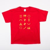 Bright Red ArtPrize Youth Glyphs Tee