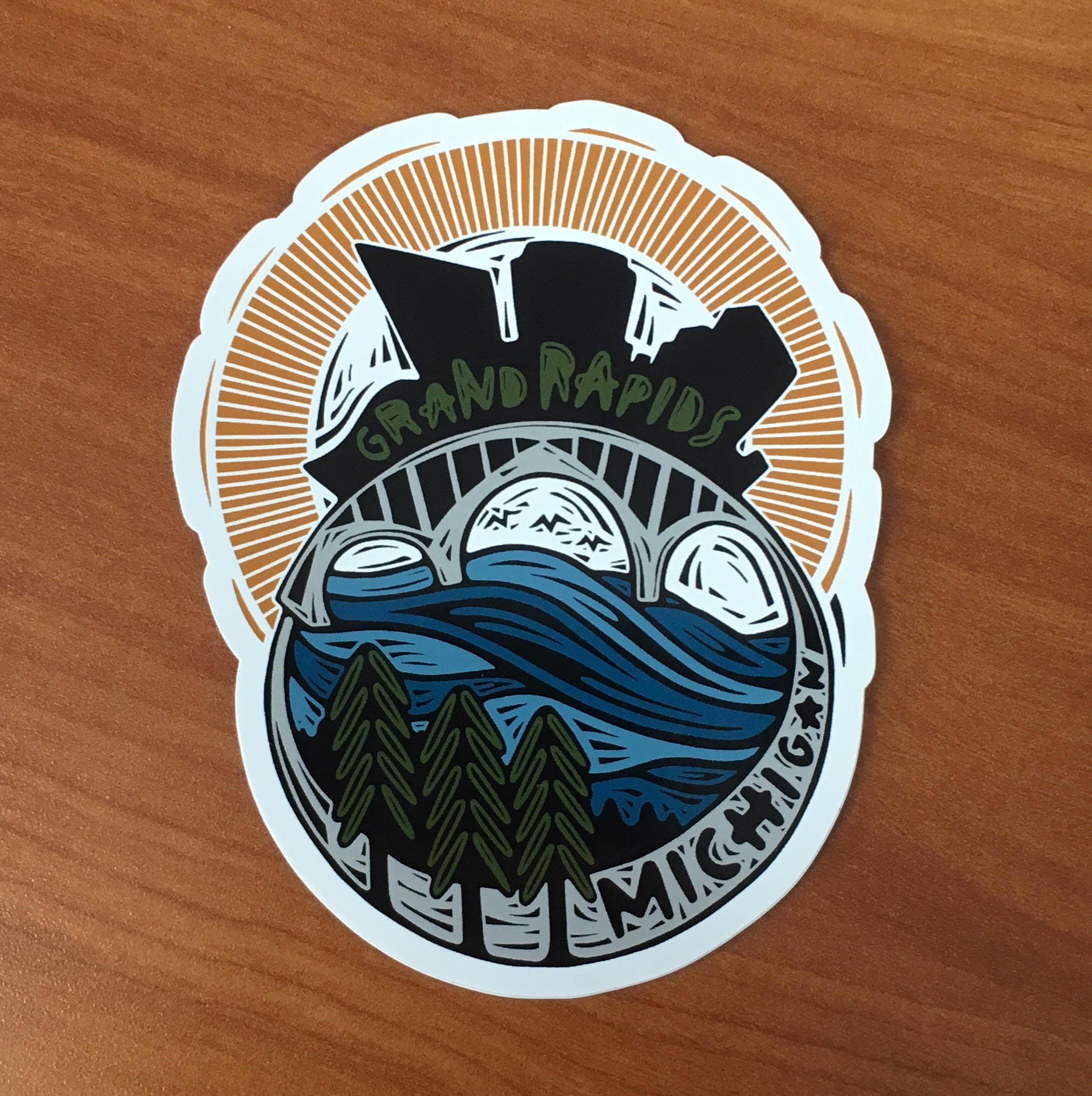 Woosah outfitters grand rapids sticker