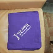 Van Andel Institute Purple Community Fleece Stadium Blanket.