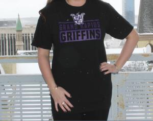 Black Grand Rapids Griffins Adult T-Shirt